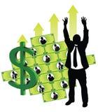 Uomini d'affari che fanno soldi Fotografia Stock Libera da Diritti