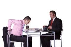 Uomini d'affari che lavorano insieme Fotografia Stock