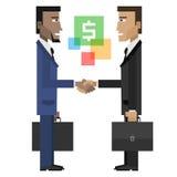 Uomini d'affari che stringono le mani Immagine Stock Libera da Diritti