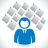 Uomini d'affari con la nota di carta Immagini Stock Libere da Diritti