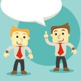 Uomini d'affari di dialogo, una discussione di due uomini d'affari illustrazione vettoriale