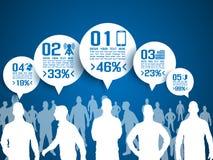 Uomini d'affari di Infographic con cinque opzioni Immagine Stock Libera da Diritti