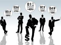 Uomini d'affari di Infographic con cinque opzioni Immagini Stock Libere da Diritti