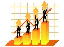 Uomini d'affari nel grafico Fotografia Stock Libera da Diritti