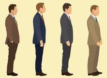 Uomini d'affari nel profilo Fotografia Stock Libera da Diritti