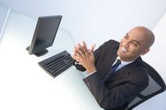 Uomini d'affari pronti per lavoro immagini stock libere da diritti