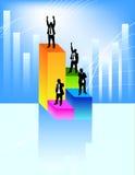 Uomini d'affari sulle piattaforme Immagine Stock Libera da Diritti