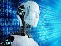 Uomini del android del robot illustrazione di stock