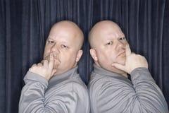 Uomini del gemello identico. immagini stock libere da diritti