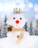 Uomini della neve di natale Fotografie Stock