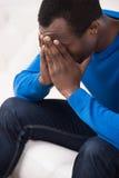 Uomini depressi. Fotografia Stock