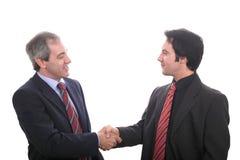 Uomini di affari che agitano le mani Fotografia Stock Libera da Diritti