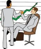 Uomini di affari che celebrano successo illustrazione vettoriale