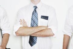 Uomini di affari nella riga Fotografia Stock