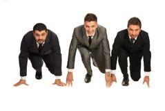 Uomini di affari pronti per l'inizio Immagini Stock