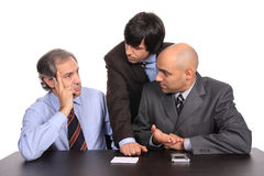 Uomini di affari su una riunione Fotografia Stock Libera da Diritti