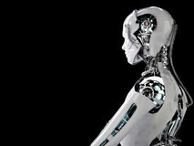 Uomini di androide del robot Fotografia Stock Libera da Diritti