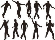 Uomini di Dancing Immagine Stock