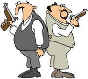 Uomini di duello illustrazione vettoriale