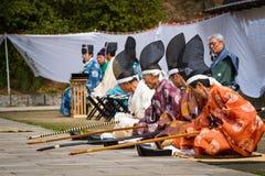 Uomini di Kyudo Fotografie Stock