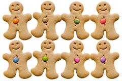 Uomini di pan di zenzero Fotografia Stock