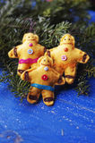 Uomini di pan di zenzero Fotografie Stock