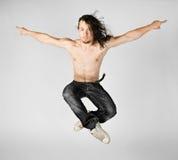 uomini di salto Fotografia Stock Libera da Diritti