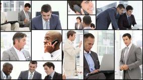 Uomini duro sul lavoro stock footage