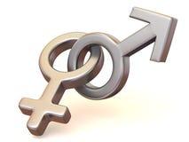 Uomini e donne di simbolo. Amore Immagini Stock Libere da Diritti