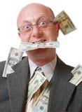 Uomini felici con soldi Fotografia Stock Libera da Diritti