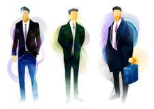 Uomini isolati di affari Fotografia Stock