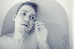 Uomini nel bagno Fotografia Stock