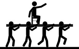 Uomini nell'ambito di schiavitù illustrazione vettoriale