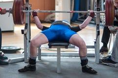 Uomini Powerlifting della concorrenza Fotografie Stock Libere da Diritti