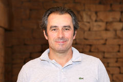 Uomini pro giocatore di golf Jean van de Velde novembre 2015 nel Sudafrica Fotografie Stock Libere da Diritti
