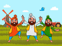 Uomini punjabi per la festa dell'indipendenza indiana Immagini Stock Libere da Diritti