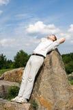Uomini Relaxed Fotografie Stock Libere da Diritti