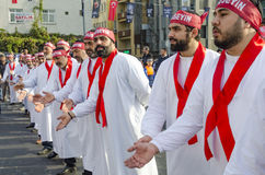 Uomini sciiti turchi che si addolorano giorno di Ashura Fotografia Stock Libera da Diritti