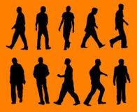 Uomini - siluette Fotografia Stock Libera da Diritti