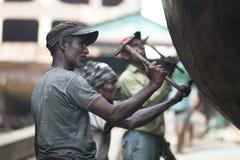 Uomini sul lavoro Fotografie Stock Libere da Diritti