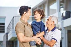 Uomini in tre generazioni Immagine Stock