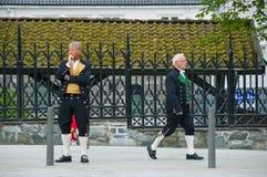 Uomini in un bunad, vestito nazionale Fotografie Stock