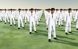 Uomini in vestiti bianchi royalty illustrazione gratis
