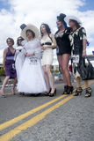 Uomini vestiti come donne. immagine stock libera da diritti
