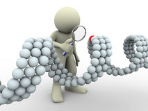 uomo 3d e DNA illustrazione vettoriale