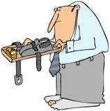 Uomo ad un controllo di TSA Immagini Stock