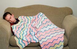Uomo addormentato Fotografia Stock