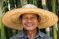 Uomo adulto senior asiatico Immagine Stock