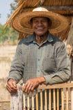 Uomo adulto senior asiatico Fotografia Stock Libera da Diritti