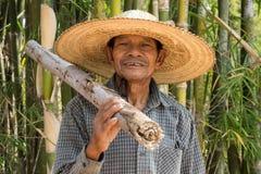 Uomo adulto senior asiatico Fotografie Stock Libere da Diritti